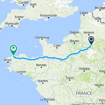 Brenouille-Roscoff BM 610km