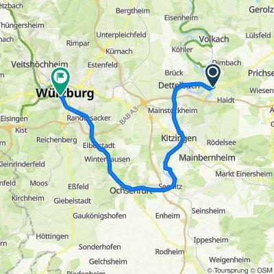 Main Radweg Schwarzach - Würzburg