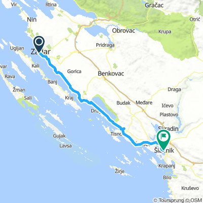 Etappe5_Zadar_Sibenik_84km