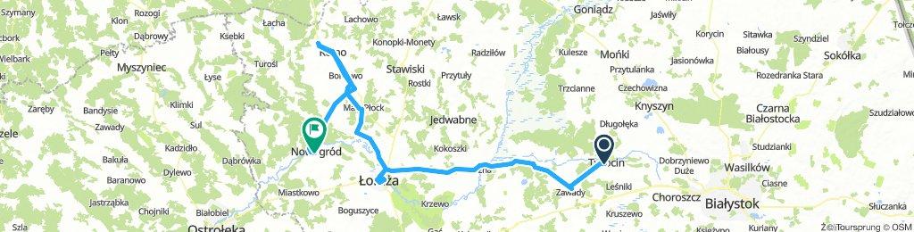 Tykocin - Wizna - Łomża - Czerwone - Nowgród