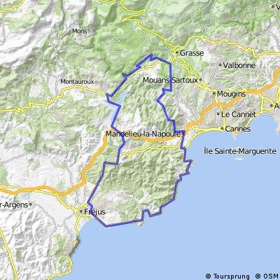 From Cabris to Saint Raphael and back via Mandelieu
