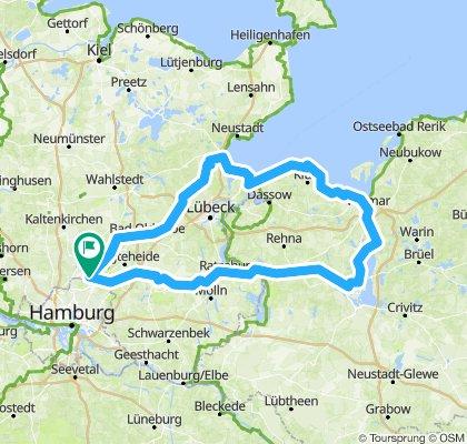 Hamburg Wismar Route
