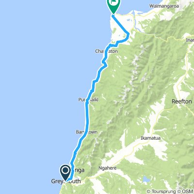 Greymouth to Cape Foulwind