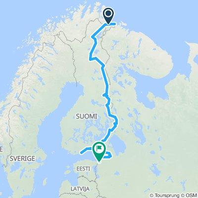 Vasfüggöny-útvonal / EuroVelo13 - Iron Curtain Trail / teljes térkép