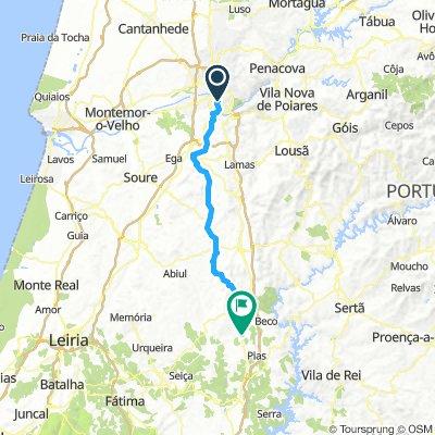 3d Koimbra - Alviazera 65km 800 sukilimo