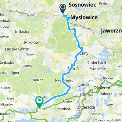 Road bike | Katowice - Pszczyna