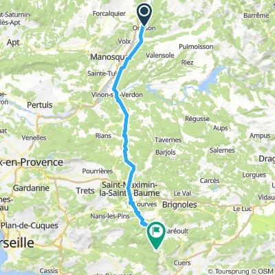 6) Oraison - Méounes-les-Montrieux (Camping aux Tonneaux)