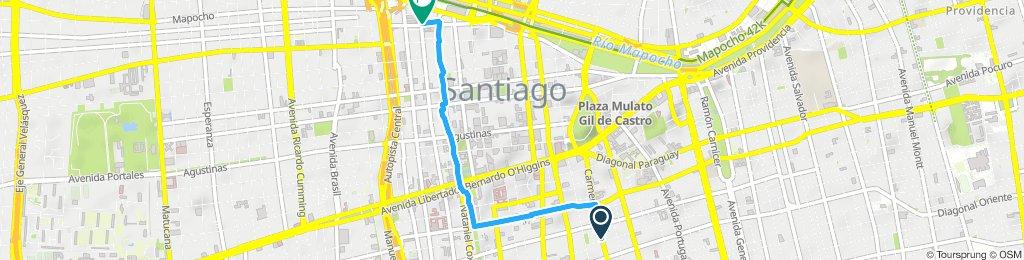 Ruta lenta en Santiago