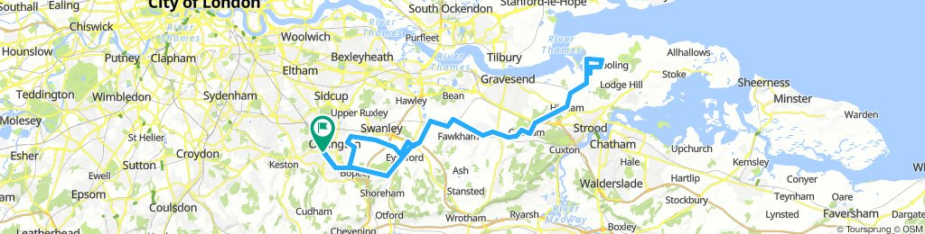 Orpington to the Isle of Grain - 53miles