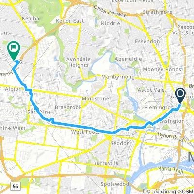 Sunshine Hosp Footscray Route