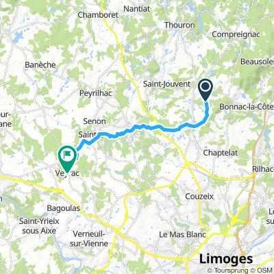 Itinéraire modéré en Veyrac