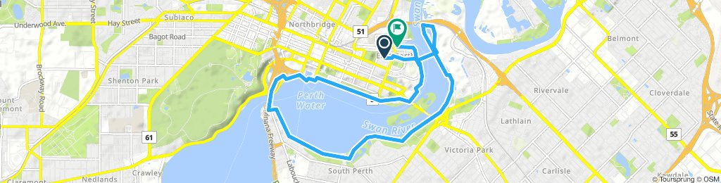Relaxed route in East Perth