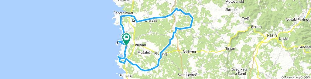 tour porec andersom 50 km