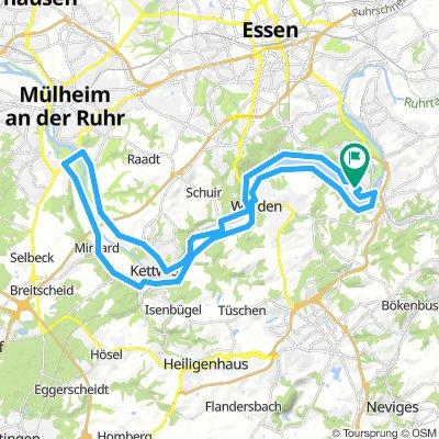 Heisingen - Mülheim # Baldeney See - Lanfermannfähre - MH-Menden - Mintarder Straße - Kettwig - Laupendahler - Werden - Hardenbergufer ret. Heisingen