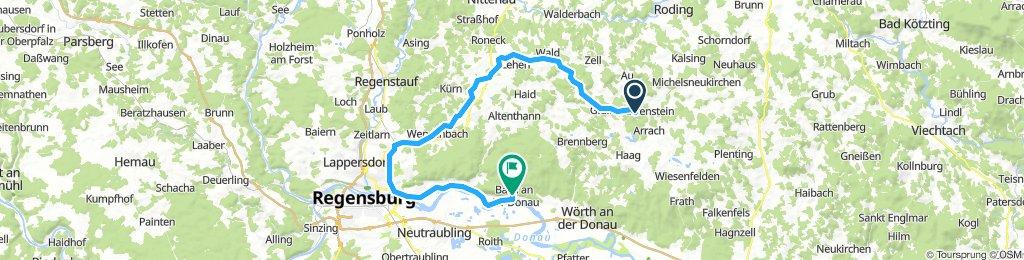 Von Falkenstein, über Regensburg nach Bach an der Donau