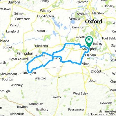 Abingdon-Fernham-Uffington-Fyfield-Abingdon