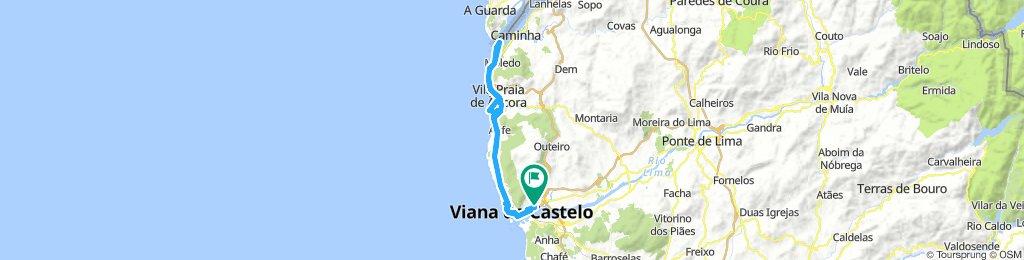 Viana do Castelo até Rio Minho
