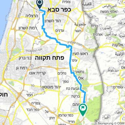 Raanana to Bet Nehemia
