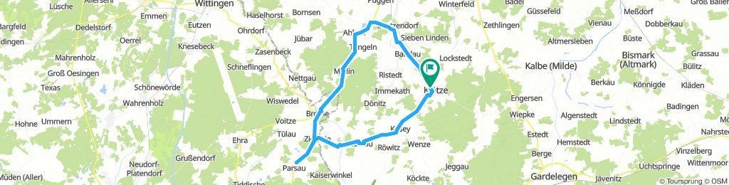 meine Tour Sachsen Anhalt Niedersachsen Route