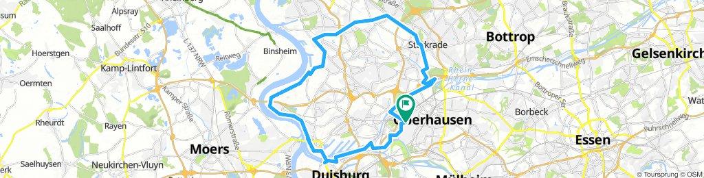 Route im Schneckentempo in Oberhausen