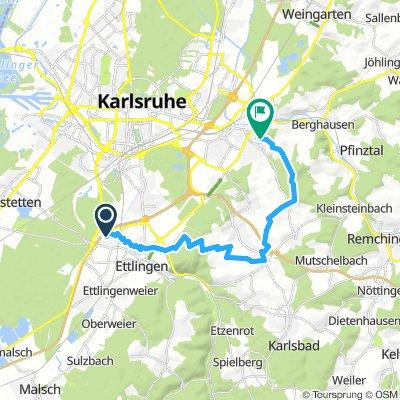 Turmberg - Anfahrt aus Ettlingen