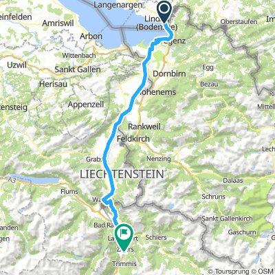 1. Etappe Lindau-Chur-S