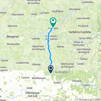 Dag 1: Gavaudun-Le Bugue (wo 10/7)