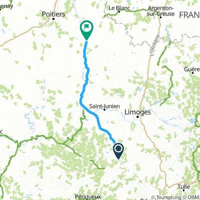 Dag 3: Jumilhac-Lussac-les Châteaux (za 13/7) - OPTIE 1