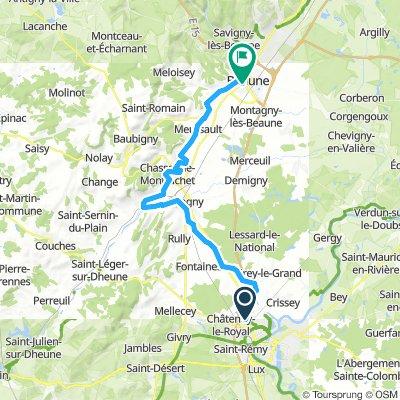 TOUR BORGOGNA -9^tappa Chalon sur Saonre-Beaune