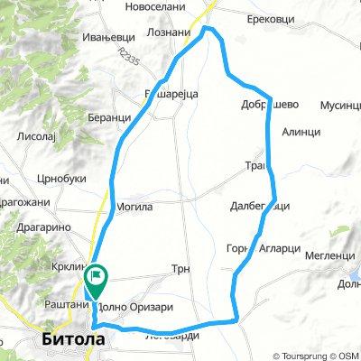 Bitola - Noshpal - Novaci - Bitola