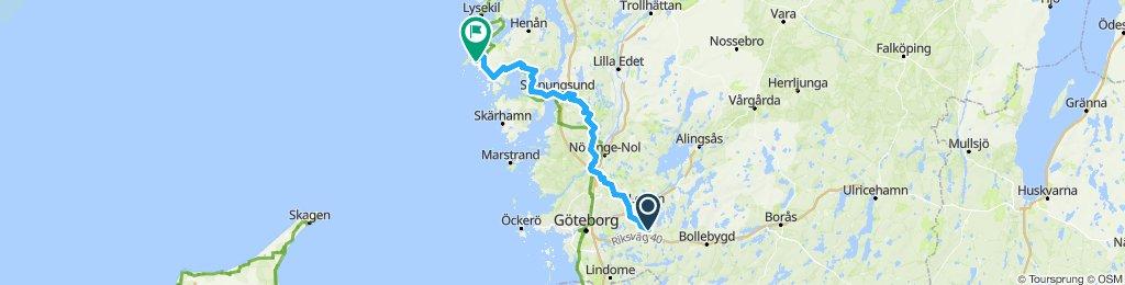 Schweden Tour Hinfahrt