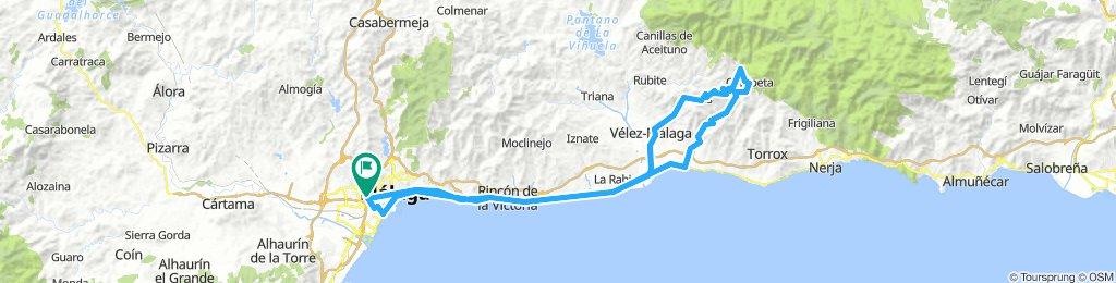 Málaga - Cómpeta - Arenas - Málaga