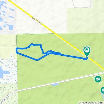 Collier Seminola State Park Bike Trail