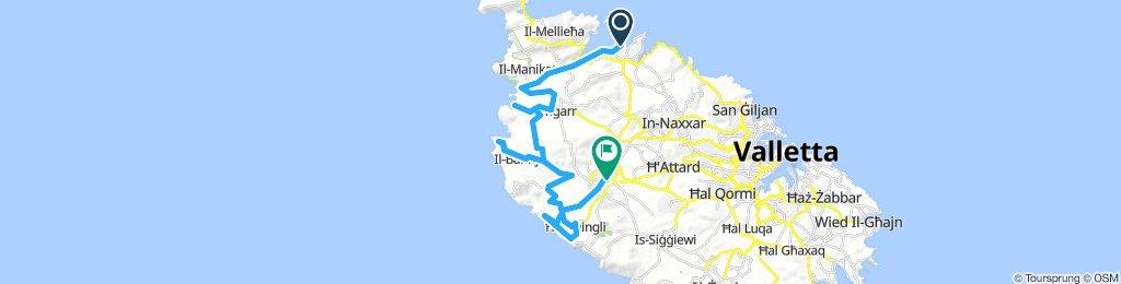 Relaxed route - Buggiba - dingli cliffs - Rabat / Medina