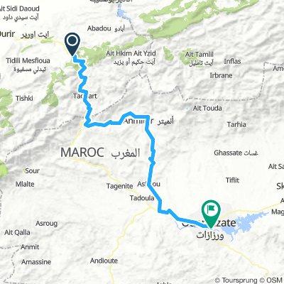 Tizi Ait Barka to Ouarzazate