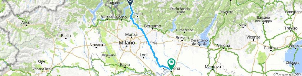 4. Etappe Bellagio-Cremona-S