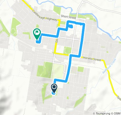 Snail-like route in Mudgee