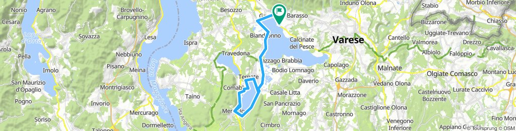 Voltorre. Gavirate Cycle Path to around Lago Comabbio