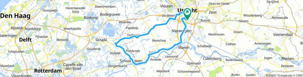 Utrecht - Schoonhoven - Haastrecht - Montfoort - Utrecht