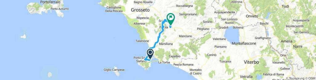 Orbetello to Roccapesta