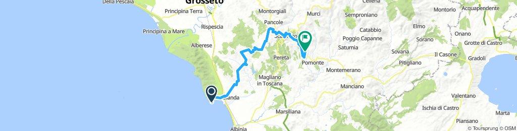 Talamone to Roccapesta