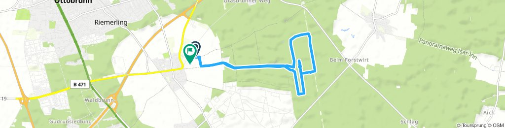 Moderate Route in Hohenbrunn
