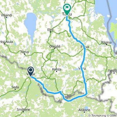 Valga - Ape - Rogosi - Pölva - Tartu