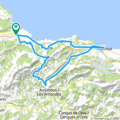 Colunga - Mirador del Fitu - Collía - Altu La Cruz - Ribeseya - Caravia - Colunga