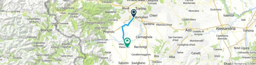 Giro a velocità costante in Moretta