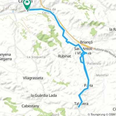 Kickbike per la vall d´Ondara. La Segara.