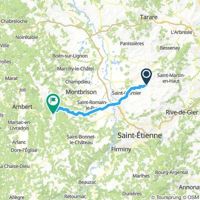 6. Lac des Hongues to St Antieme