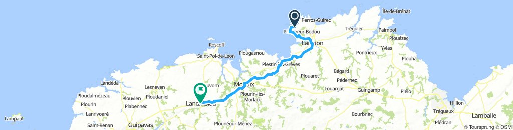 Penvern - Landivisiau 81km, 690u, 4h.45