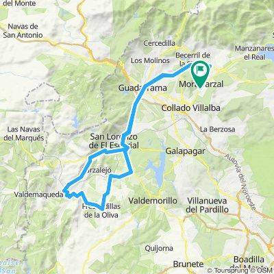 Moralzarzal-Robledo de Chavela-Cruz Verde- Moralzarzal