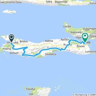 Vela Luka - Korčula 64km
